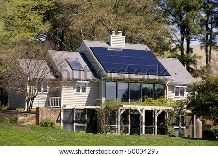 A completely solar energy powered research home. - stock photo
