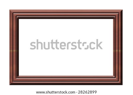 A computer generated picture of a wooden picture frame.