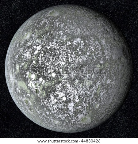 A computer graphic rendering of the asteroid Eris UB313 - stock photo