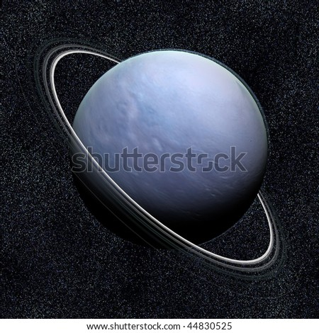 A computer graphic rendering of Uranus