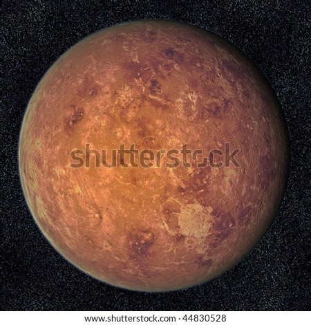 A computer graphic rendering of Venus - stock photo