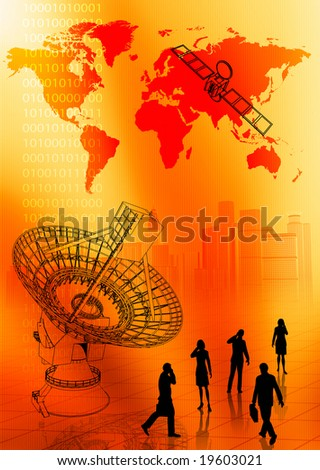 A concept of global business communication - stock photo