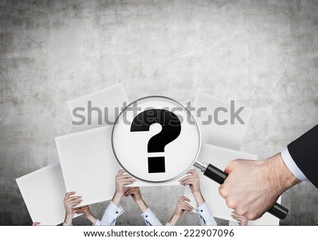 A concept of looking for the answer..  - stock photo