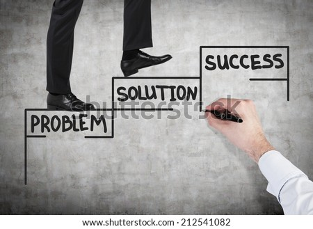 A concept of successful business project. - stock photo