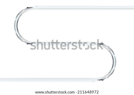 A conceptual image of metal piping - stock photo