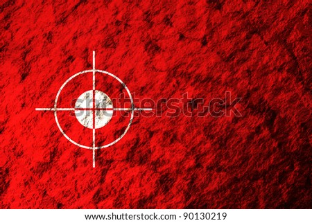A conceptual image of the surface of Mars while looking through a landing trajectory scope. - stock photo