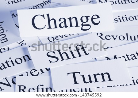 A conceptual look at change, shift, turn, revolution.