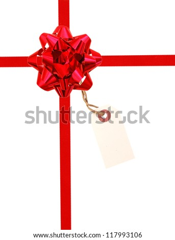 A conceptual ribbon package with tag