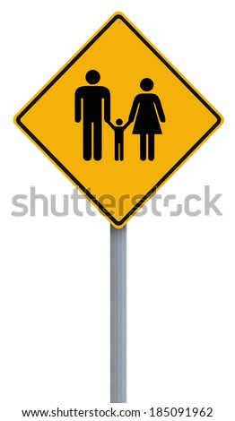 A conceptual road sign on Family