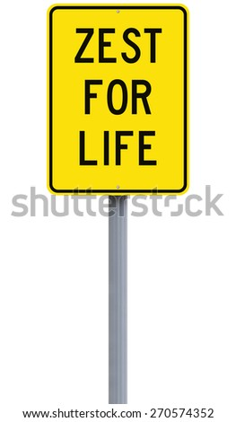 A conceptual sign on Life