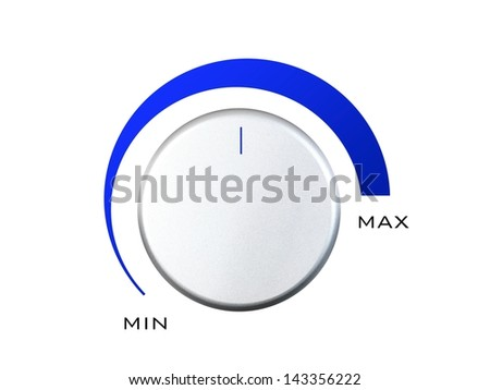 A control switch isolated against a white background - stock photo