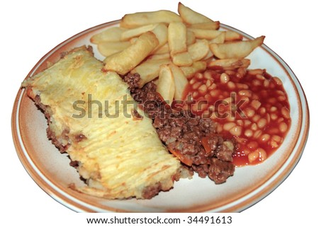 a cooked meal just ready for eating with clipping path