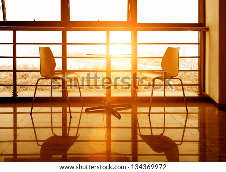 A corner of the modern office - stock photo