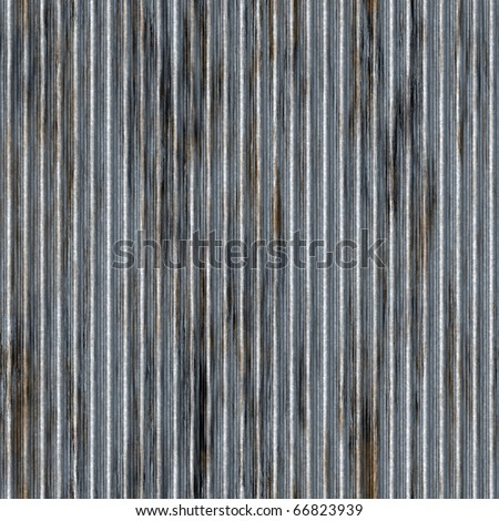 A corrugated metal texture with rust that tiles seamlessly as a pattern. Makes a great background or backdrop when tiled. - stock photo
