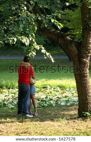 a couple in the park