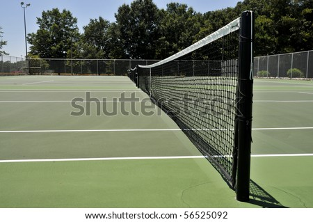 A court used for the popular sport of tennis