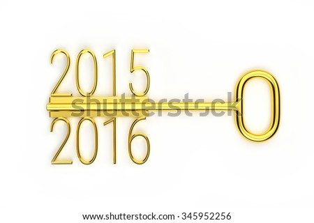 a creative gold key year change concept for your design