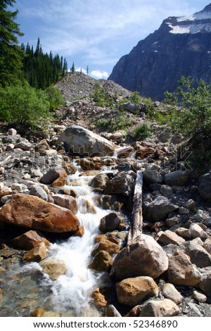 A creek view in Banff national park. - stock photo