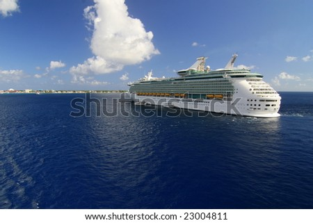 A cruise in ocean - stock photo