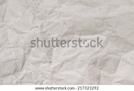 a crumpled sheet of recycled paper - stock photo