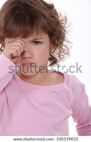A crying child - stock photo