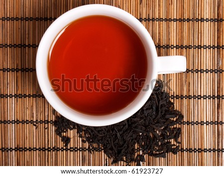 a cup of black tea - stock photo