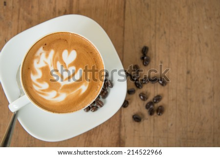 A cup of cafe latte  - stock photo