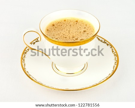 A cup of coffee cafe latte - stock photo