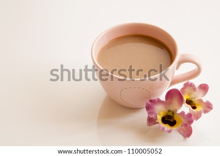 A cup of coffee on table. - stock photo