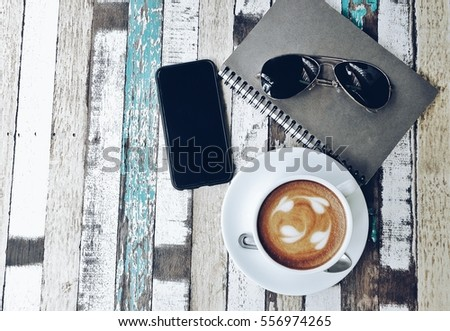 Cup Coffee Heart Pattern Sunglasses Color Stock Photo (Royalty Free ...