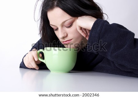 a cup of morning coffee - stock photo