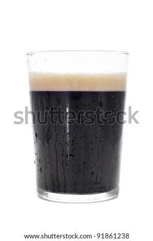 a cup with cola soda on a white background - stock photo