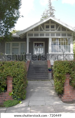 A cute craftsman house.