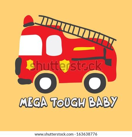 A Cute Fire Truck - stock photo
