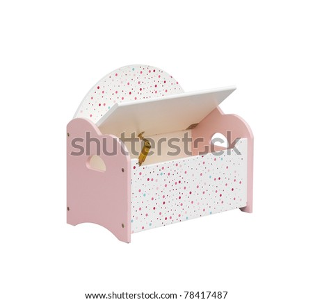 A cute kid chair designed to have a box under the seat for keeping toys or something - stock photo
