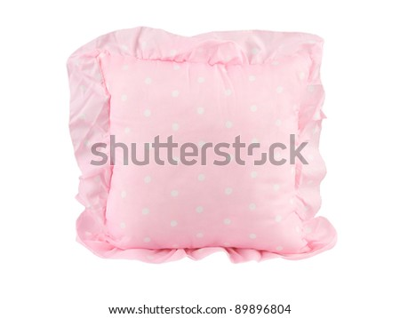 A cute pink cushion for home decoration - stock photo