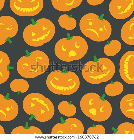 A cute retro Halloween background. Seamlessly repeatable.  Raster. - stock photo