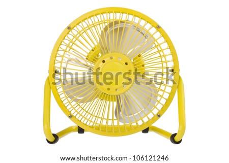 A cute small electric fan - stock photo