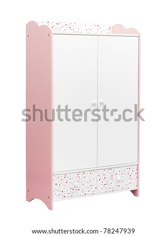 A cute wardrobe for a girl bedroom