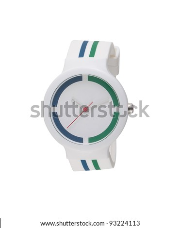 A cute wristwatch for teenagers - stock photo