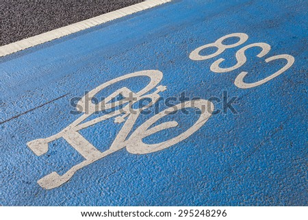 A cycle Superhighway in central London. - stock photo
