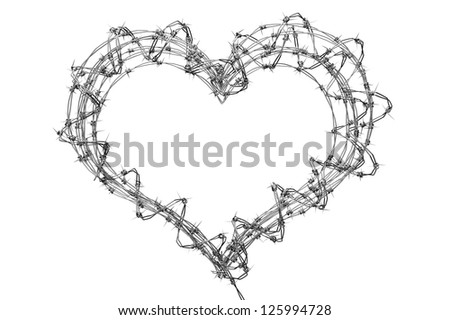 3 D Barbed Wire Heart Creative Teen Stock Illustration 125994728 ...