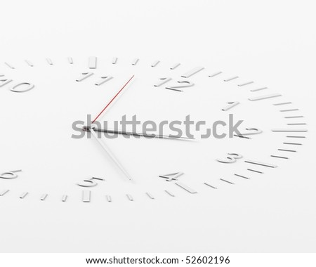 a 3d clock on a white background
