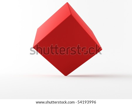 a 3d cube on a white background