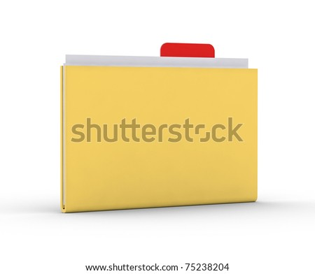 a 3d folder on a white background