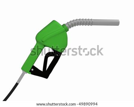 a 3d green gas pump - stock photo