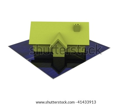 A 3d house on a white background - stock photo