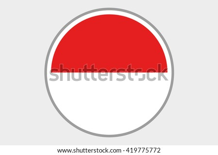 A 3D Isometric Flag Illustration of the country of Indonesia - stock photo