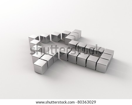 a 3d made arrow - stock photo