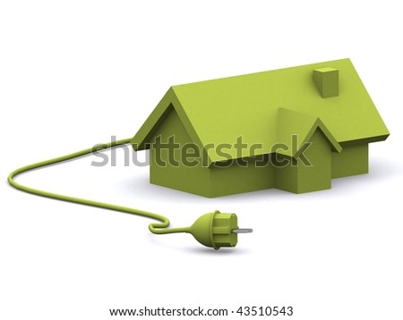 A 3d made house on a white background